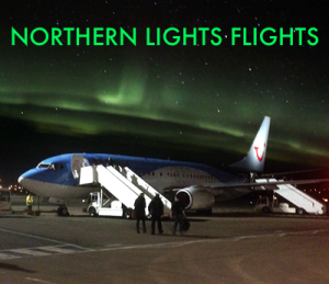 northern lights flights banner