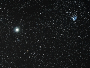 Jupiter with the Hyades & Pleiades