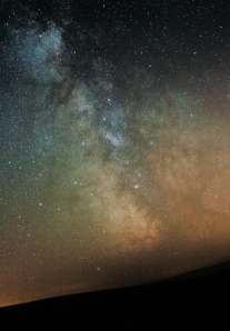 The Milky Way over Dartmoor