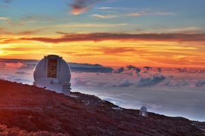 Sunset behind the William Herschel Telescope